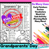 Grandparents' Day Activity: Grandparents' Day Word Search