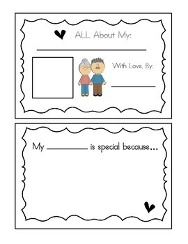 Grandparents' Day Activity Packet - Booklet, Letter, Gifts, We