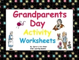 Grandparents Day Activity Worksheets: