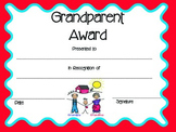 Grandparents Day Award/Certificate