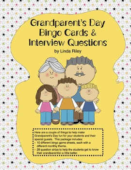 Grandparent's Day Bingo Cards & Interview Questions