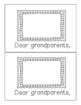 Grandparents Day Book - Interactive Emergent Reader