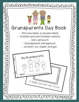 Grandparents Day Book - Interactive Emergent Reader