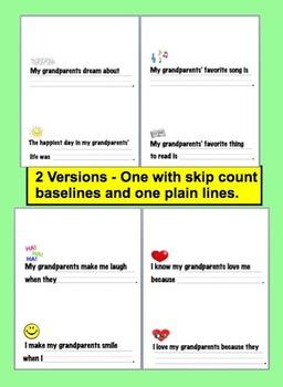 Grandparents' Day Booklet - 20 cloze sentences-choose