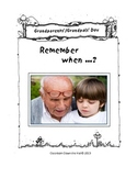 Grandparents Day Booklet-Share About Your Life