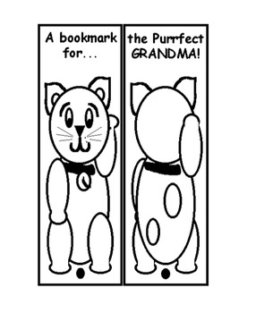 Grandparents' Day Bookmark