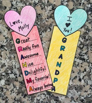 Grandparents' Day Bookmarks {Acrostic Poems} by Primarily ...