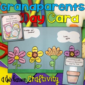 Grandparent's Day Card Craftivity (includes non-grandparen
