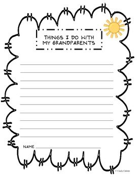 Grandparent's Day Card (craft) and Literacy Activities