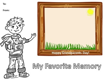 Grandparents Day Celebration: Writing  and Coloring Activities to Make and Give
