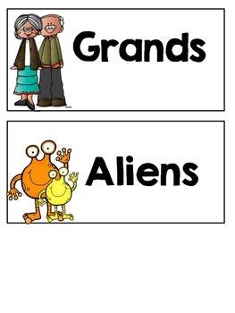 Grandparent's Day Centres (Aussie Version)