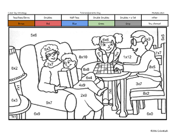 Grandparents Day Coloring Page Teaching Resources | Teachers Pay ...