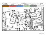 Grandparents Day Coloring Page by Multiplication Fact Strategy