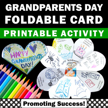 Grandparents Day Crafts, Activities for School, Grandparents' Day Cards for Kids