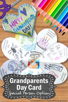 Grandparents Day Card for Kids to Make, Grandparents Day Craft