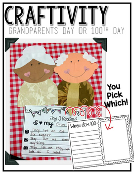Grandparents Day or 100th Day Craftivity
