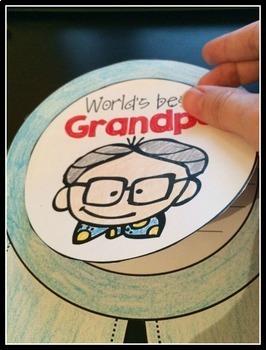Grandparents Day Craftivity - a no prep September writing activity