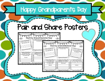 Grandparents' Day Pair and Share Poster Activity