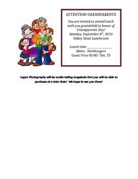 Grandparents Day Editable Letter