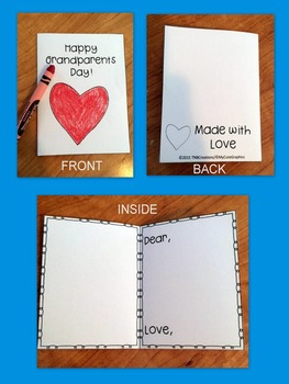 FREE Grandparents Day Card Craft