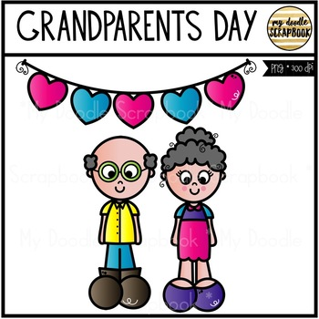 Grandparents Day FREEBIE (Clip Art for Personal & Commercial Use)