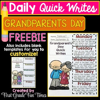 Grandparents Day Free Writing Activities