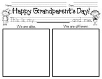 Grandparent's Day Goodies! {5 activities to celebrate grandparents}