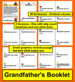 Grandparents' Day Grandfather's Booklet - 20 cloze sentences to choose