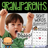 Grandparents Day High Frequency Words BINGO