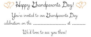 Grandparents Day Invitation