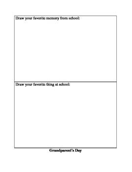 Grandparent's Day Kindergarten Activity
