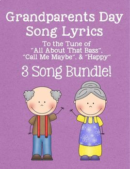 "Grandparents Day Lyrics Bundle - ""All About That Bass'"" & ""Call Me Maybe"""