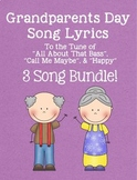 "Grandparents Day Lyrics Bundle: ""All About That Bass"", ""Call Me Maybe"" & ""Happy"""