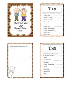 Grandparents Day Memory Book 2017