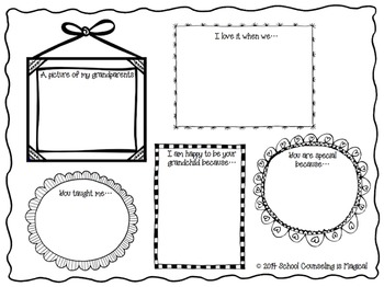 Grandparent's Day Mini-Booklet and Activity Packet