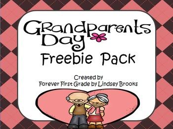 Grandparents Day No Prep Freebie Pack