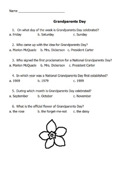 Grandparents Day Packet PDF