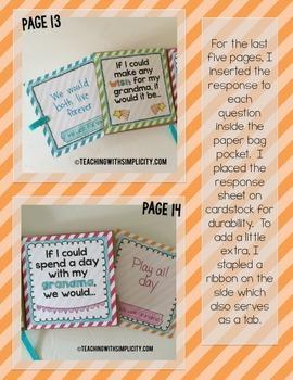 Grandparents Day:  Paper Bag Book