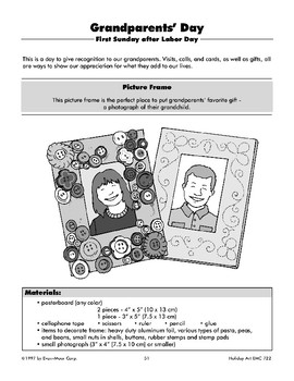Grandparents' Day Picture Frames