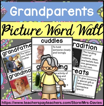 Grandparents (Day) Picture Word Wall Feat. Real World Pict