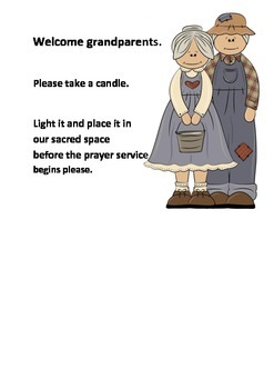 Grandparents Day Poster - invites grandparents to light a candle in sacred space