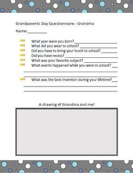 Grandparents Day Questionnaire