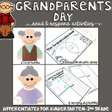 Grandparents Day: Reading Comprehension, Writing and Craftivities