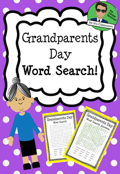 Grandparents Day Word Search