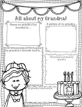 Grandparents Day Activities and Cards in English and Spanish