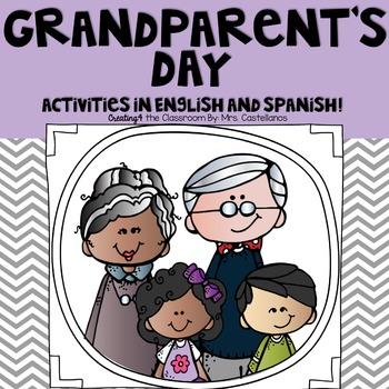 Grandparents Day Writing Activities and Cards in English a