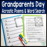 Grandparents Day Writing Activity with FREE Grandparents Day Word Search
