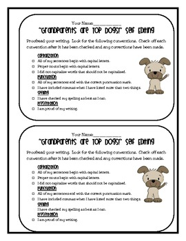 Grandparents' Day Writing: Grandparents are Top Dogs!