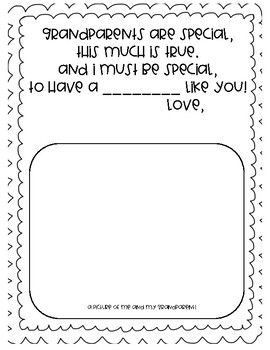 Grandparents Day Writing and Drawing Prompts