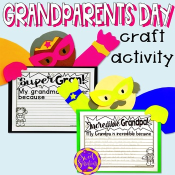 Grandparents Day Craft Activity By Sweet Sensations Tpt